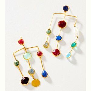 Anthroplogie Catrine Asymmetrical Drop Earrings